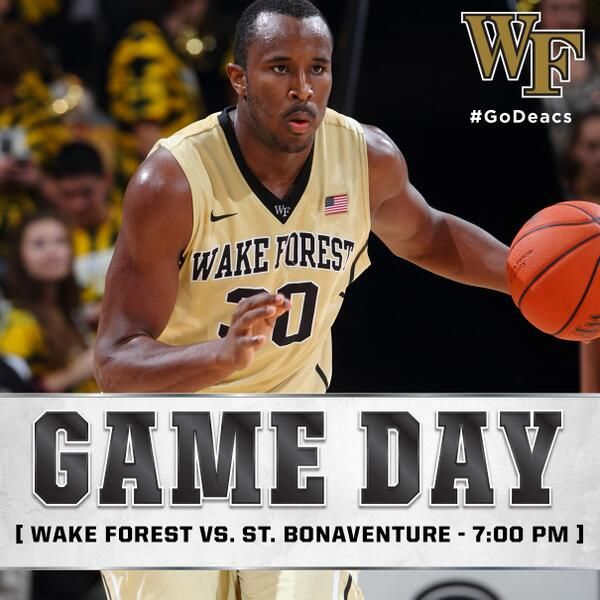 Wake Forest Basketball Gameday Graphic