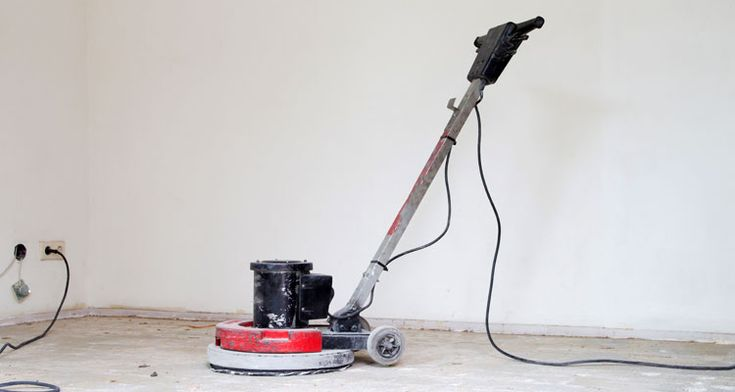 How to sand concrete by hand or with a sander for that