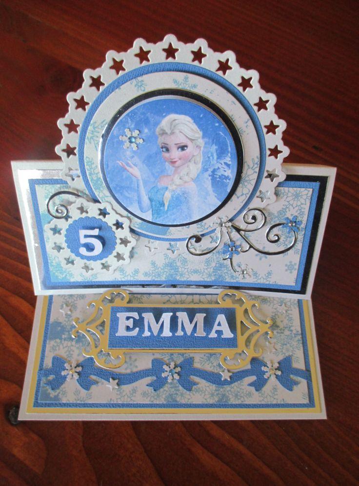 Frozen Themed Easel Card