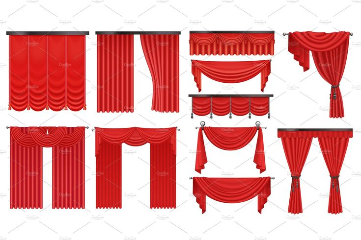 Luxury scarlet red silk curtains set , #ad, #red#s…