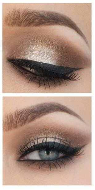 #bronze #gold #eyeshadow #eyeliner
