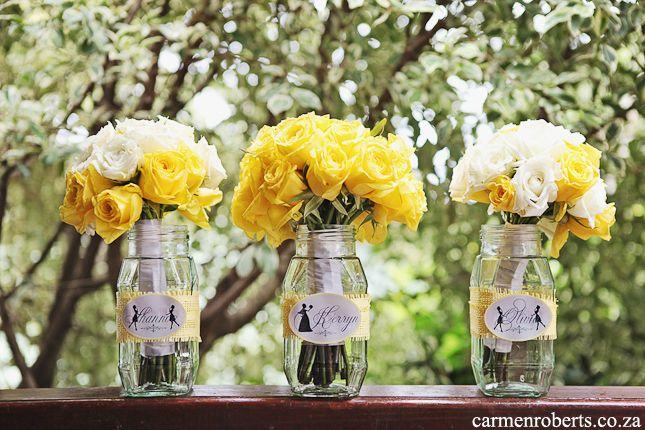 Carmen Roberts Photography, Kyle and Kerryn's Wedding 8 - yellow wedding flowers