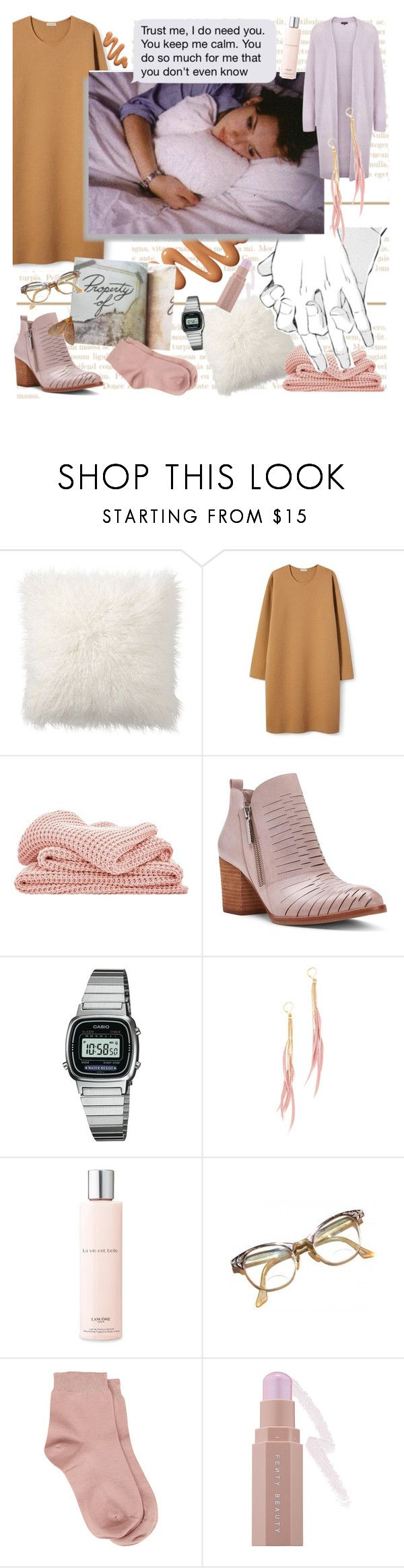 """Reality Ruined My Life"" by batbekka12 ❤ liked on Polyvore featuring Pottery Barn, Sheridan, Donald J Pliner, Casio, Shashi, Lancôme, Retrò, Maria La Rosa and Puma"