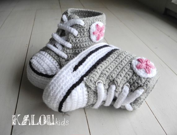 Zapatillas Tejidas Para Bebés / KalouKids - Artesanio