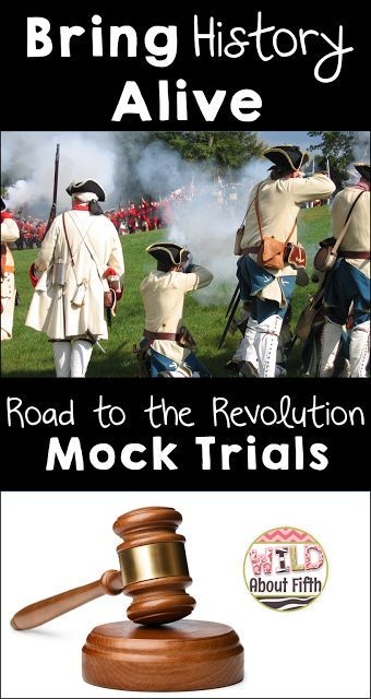 Are you looking for a must-do project for your social studies students this year?  If you teach the Revolutionary War time period, or anything to do with government and the judicial system - than you NEED this now!!!