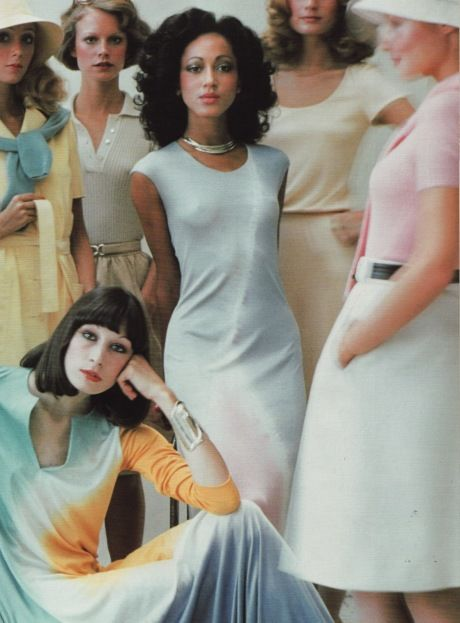 Halston sportswear ad. Angelica Houston (bottom left) and Pat Cleveland was one of his  many signature models