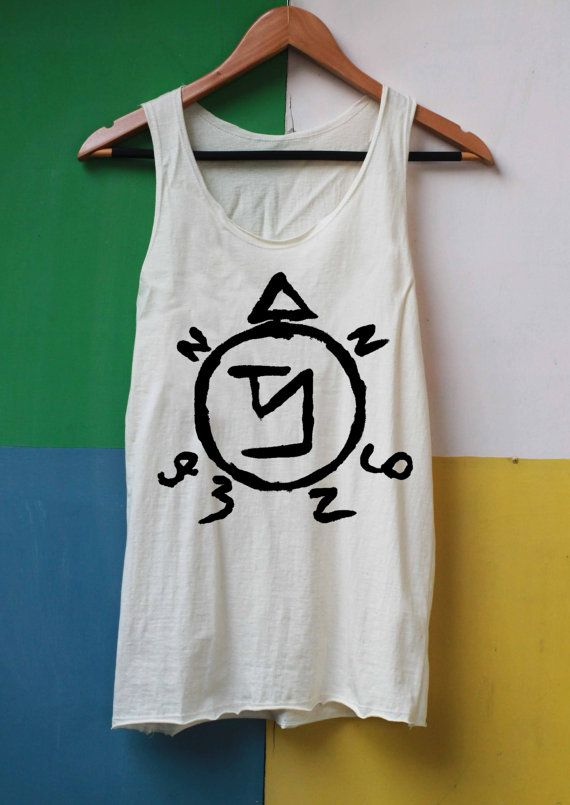 Angel Banishing Sigil Shirt Supernatural Tattoo Shirts Tank Top TShirt Top Softly Women – size S M L on Etsy, $14.99