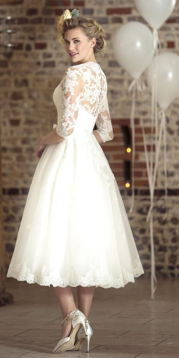Vintage Inspired Wedding Dresses ❤ See more: http://www.weddingforward.com/vintage-inspired-wedding-dresses/ #weddings