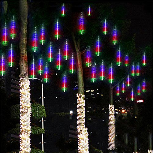 String Lights By Lylifewaterproof Led Meteor Shower Rain Falling Raindrop Fairy With 50cm 8