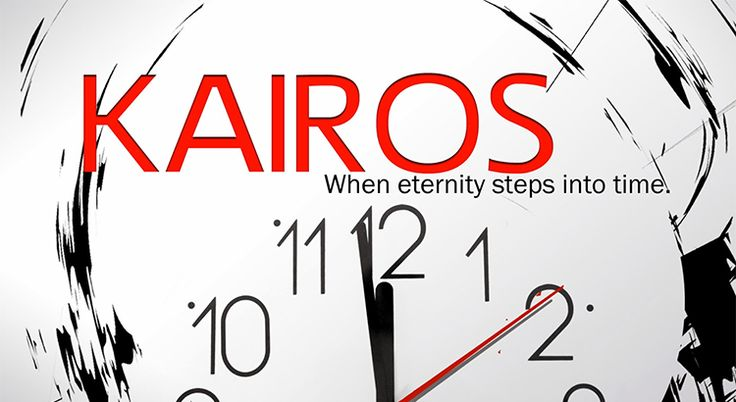 An invitation from God to completely change the direction of your future and who you will become.  Kairos (καιρός) is an ancient Greek word meaning the right or opportune moment. The ancient Greeks had two words for time: Greek: χρόνος (chronos) and kairos.  Mathew 11:29  Take my yoke upon you and learn from me, for I am gentle and humble in heart, and you will find rest for your souls.