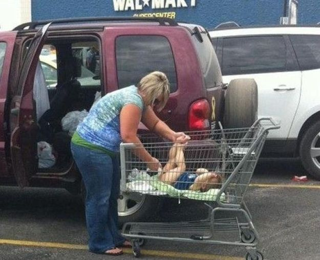 Okay, I am NEVER using a shopping-cart again! At least this explains the mystery of the parking-lot Pampers that has bugged me for years.