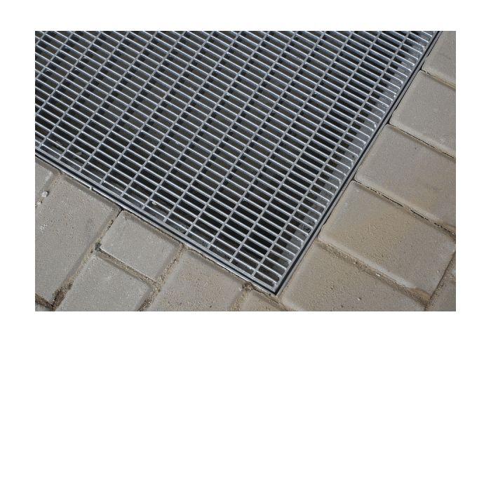 Krata Stalowa - Wycieraczka zewnętrzna (100x100cm) .Kraty stalowe, ocynkowane ogniowo wg normy DIN 50976. Płaskownik nośny i pręt seratowany bardzo dobrze czyszczą obuwie i koła wózków sklepowych, a także mają własności antypoślizgowe. Otwarta konstrukcja krat pozwala na magazynowanie dużej ilości piasku i błota. Wycieraczki na bazie krat