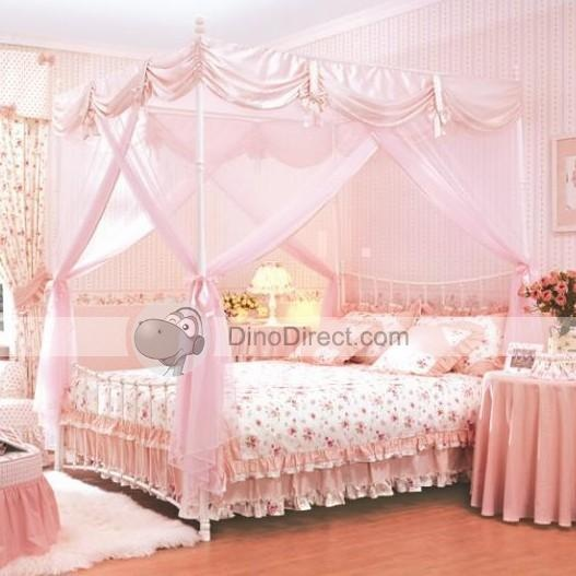 Pink 4 poster bed home decoration - Poster bed canopy ideas ...