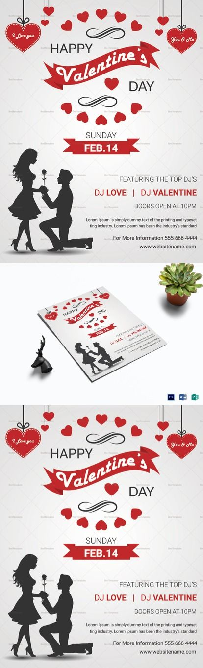 Happy Valentine Day Flyer Template