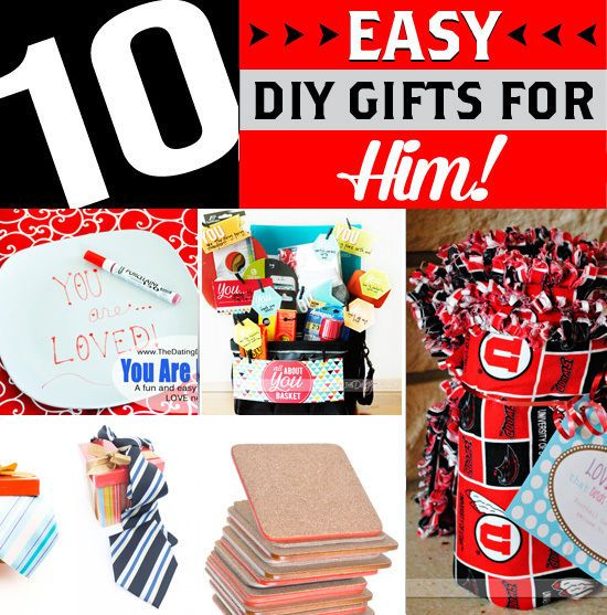 10 Diy Gift Ideas For Him Easy Diy Easy Diy Gifts And