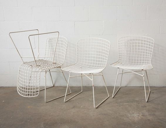 EAMES KNOLL STYLE SET of 4 Chairs - Always light and airy but also substantial and graphic.