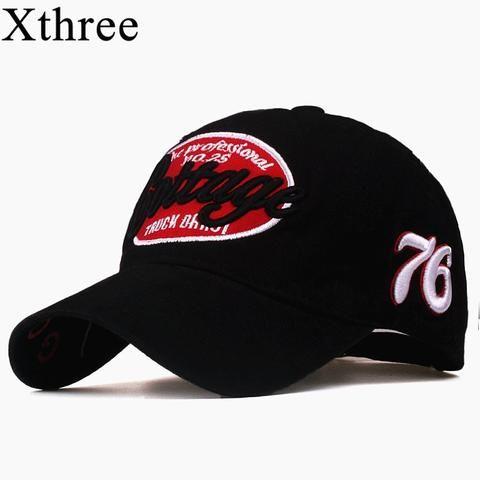 c4822aca384 Xthree unisex spring casual baseball cap fashion snapback hats casquette  bone cotton hat for men women