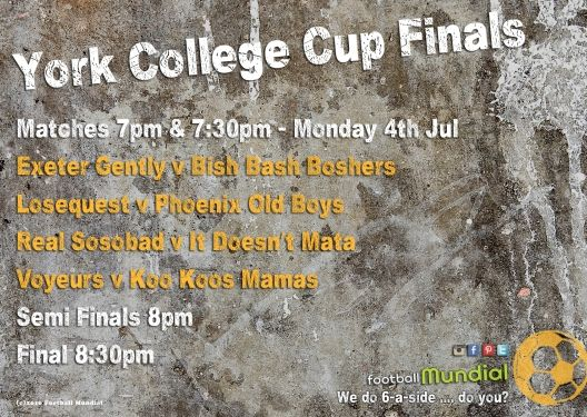 YORK COLLEGE: York College Contest Cup Final On 4th. http://footballmundial.com/articles/view/405/york-college-contest-cup-final-on-4th