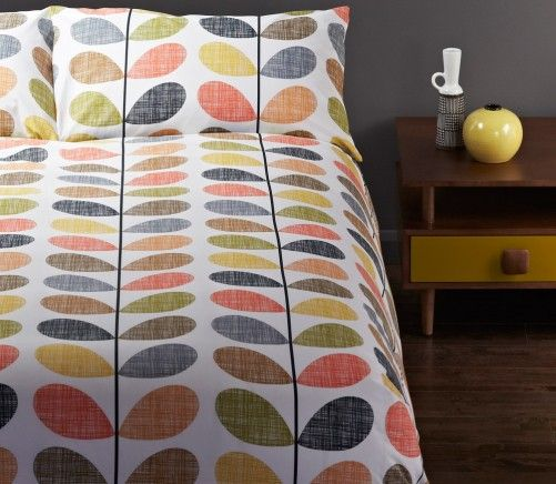 Inject retro style into your bedroom with the Orla Kiely Egyptian Cotton Quilt Cover Set Scribble Stem from $249 at http://www.beddingco.com.au/orla-kiely-egyptian-cotton-quilt-cover-scribble-stem.html
