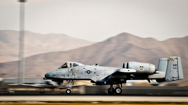 Sept. 20, 2012: An A-10 Thunderbolt II takes off at Bagram Airfield, Afghanistan.  Source: U.S. Air Force/Capt. Raymond Geoffroy