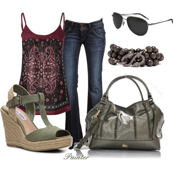 Outfit: Muffins Tops, Style, Color, Clothing, Tanks Tops, Cute Summer Outfits, Casual Outfits, Summer Tops, Olives