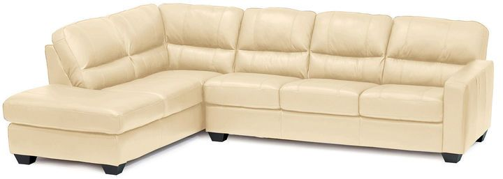 Asstd National Brand Leather Possibilities Track-Arm 2-pc. Left-Arm Corner Sectional
