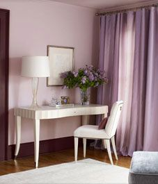10 ways to make your home warm and cosy- Benjamin Moore 'violetta' paint color