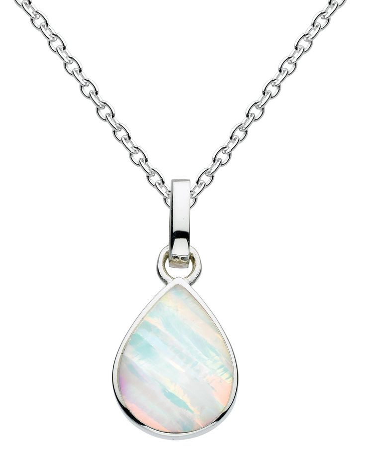 Dew Sterling Silver Marquise Necklace ls2iTERHV