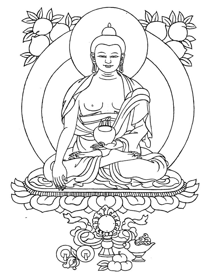 coloring pages buddah - photo#16