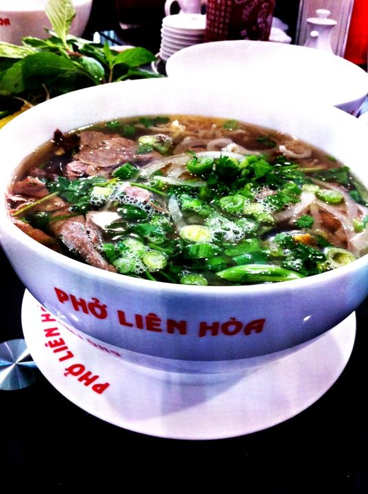 Oklahoma City, OK | Phở Liên Hòa - The best pho in the state. Pho, a flavorful beef and rice noodle soup, is customizable and there are many variations to choose from at Pho Lien Hoa. Try the Pho Tai made with eye round steak or be adventurous and order the Pho Tai Nam Gan Sach with steak, flank, tendon and tripe. They also serve pork noodle soups as well as vermicelli and cellophane glass noodles. http://www.travelok.com/article_page/oklahoma-citys-vibrant-asian-food-scene-revealed