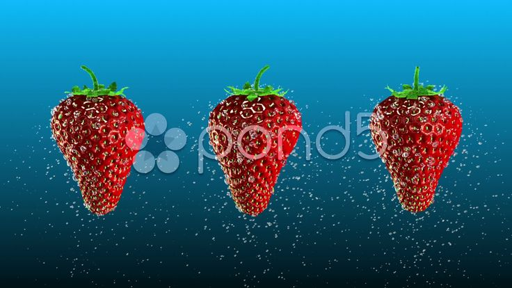 Fresh Strawberries with Water Drops Loop - Stock Footage | by maraexsoft