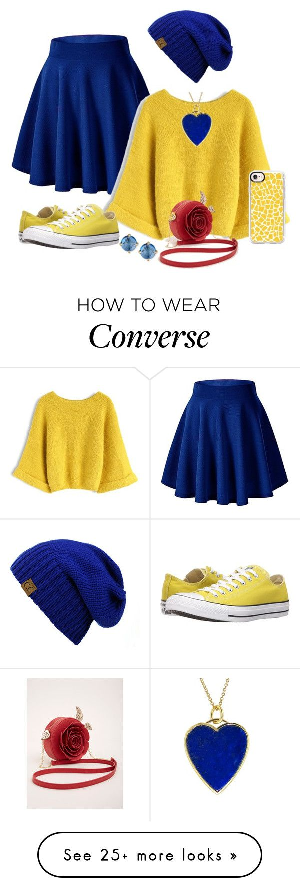 """""""Belle Casual Day"""" by o2lgirlforlife72 on Polyvore featuring Chicwish, Converse, C.C, Jennifer Meyer Jewelry, Casetify, Suzanne Kalan and Torrid"""