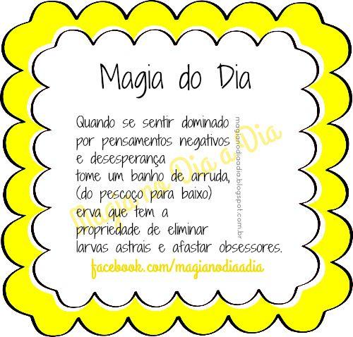 Magia no Dia a Dia: Magia do Dia: arruda