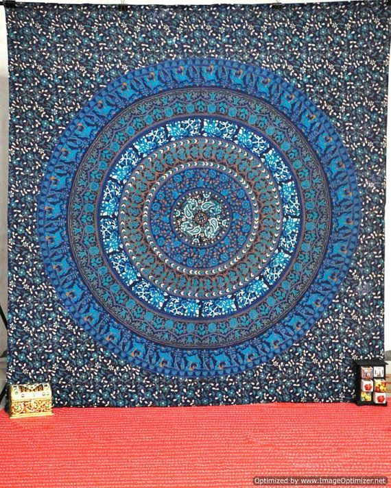 Mandala Tapestry Tapestries Indian Tapestry Hippy by BeingGypsy