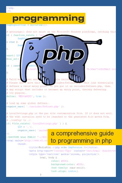 PHP Programming - Wikibooks, open books for an open world