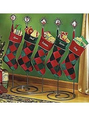 Personalized metal stocking stand christmas stocking for Charles craft christmas stockings