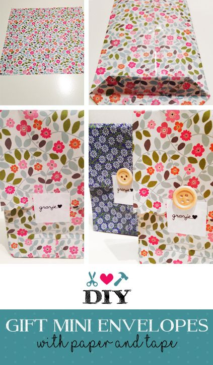 DIY gift mini envelopes - Easy to do gift packs  with paper and tape