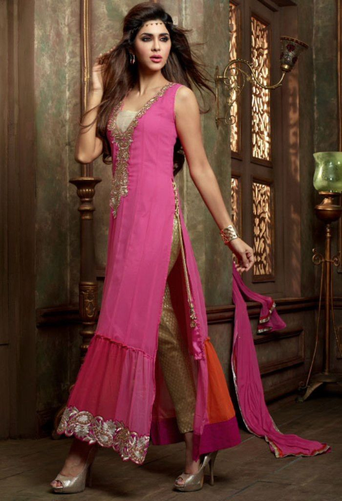 Pink Designer Georgette Salwar Kameez..@ fashionsbyindia.com #designs #indian #fashion #womens #style #cloths #fashion #stylish #casual #fashionsbyindia #punjabi #suits