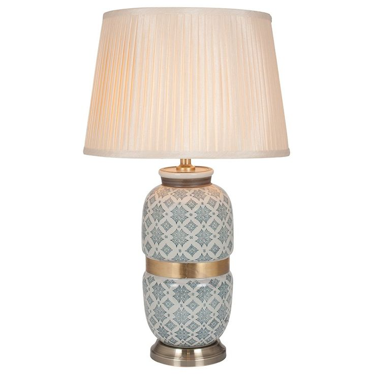 Blue and Grey Waisted Table Lamp  |  Lighting  |  Accessories  | Caseys Furniture