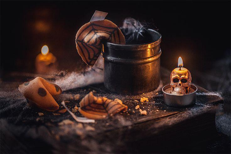Fortune cookies Halloween – Crokmou - Blog culinaire #halloween #fortunecookies #cookies #fortune