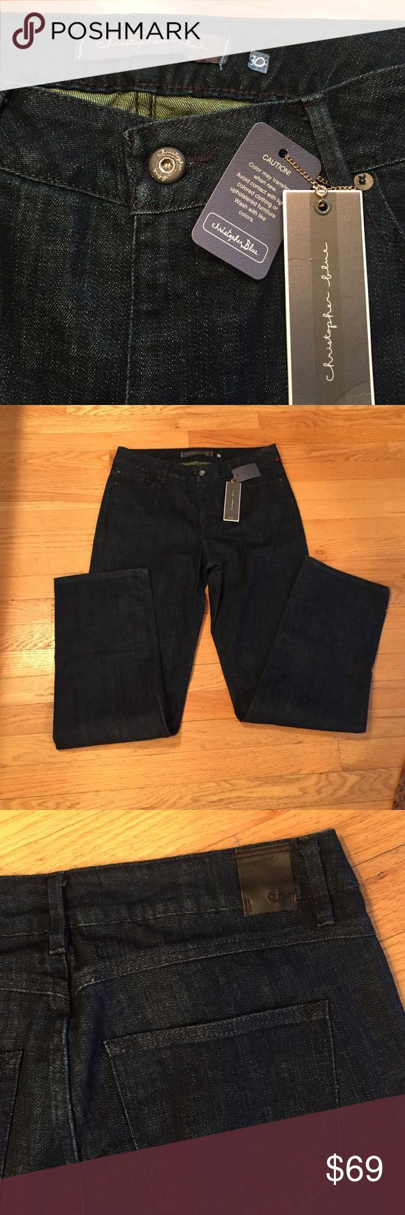 Brand New Juku Christopher Blue Jeans Juku Highest rise in deep dark blue. Chrisopher Blue Jeans