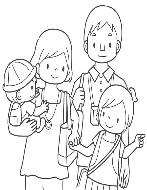 Colorear Familia Jpg 595 770 Family Coloring Pages Family Coloring Cool Coloring Pages