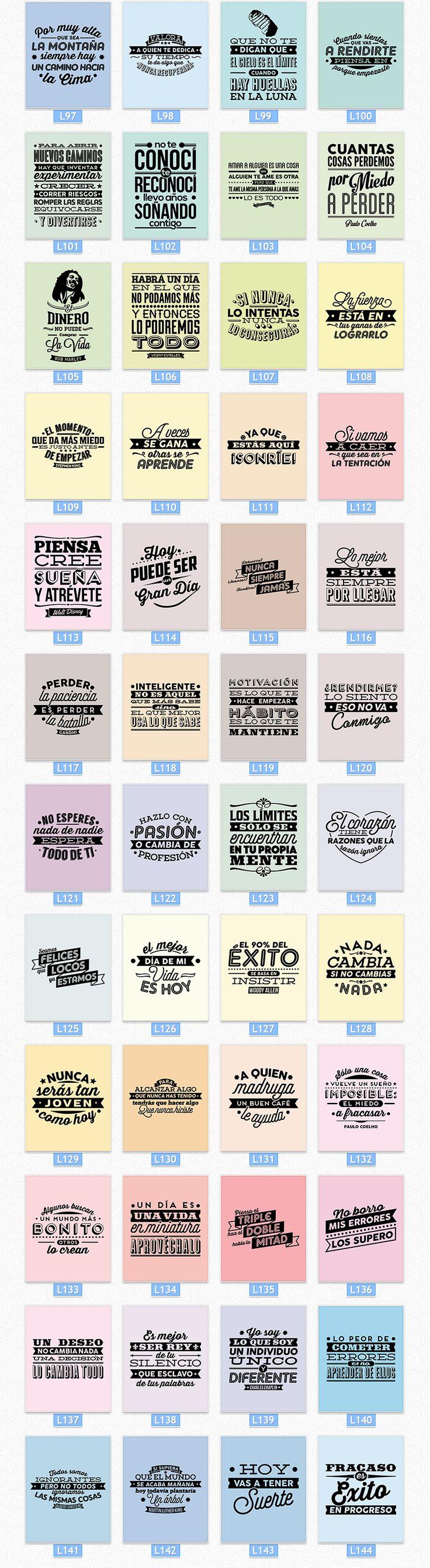 Cuadros Impresos Con Frases De La Vida +400 Diseños - $ 99,99