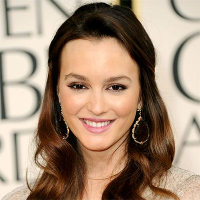 Bridal Hairstyle Face Frame   Leighton Meester  Meester's gently waved strands were pulled into a low-key half updo for a soft and alluring look. Slightly bleached-out ends were the perfect accent to her chestnut hair color.
