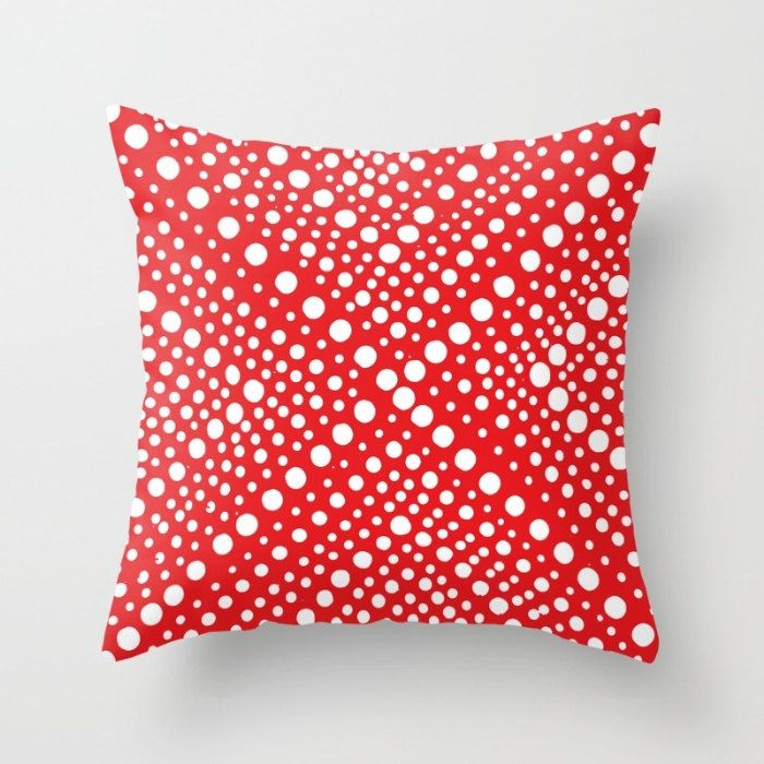 OUTDOOR Throw Pillow   Red And White   Modern Geometric X Dot   Outdoor  Pillow Cover