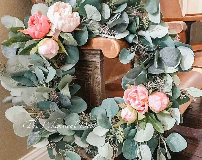 Boho Hoop Wreath Bohemian Floral Wreath Wedding Wreath Bridal Etsy In 2020 Farmhouse Wreath Easy Diy Wreaths Diy Wreath