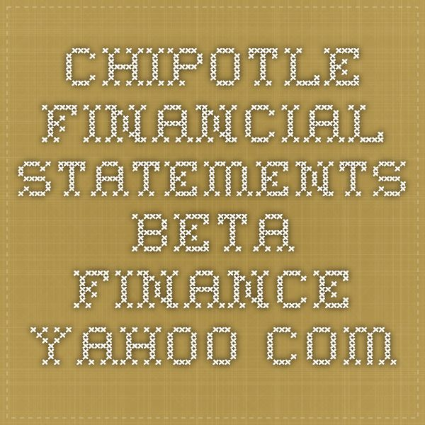 chipotle financial analysis Bank of america has no appetite for chipotle (cmg) stock, saying  an analyst  predicts chipotle mexican grill will be challenged by  us news has analyzed  over 4,500 stocks to help investors reach their financial goals.
