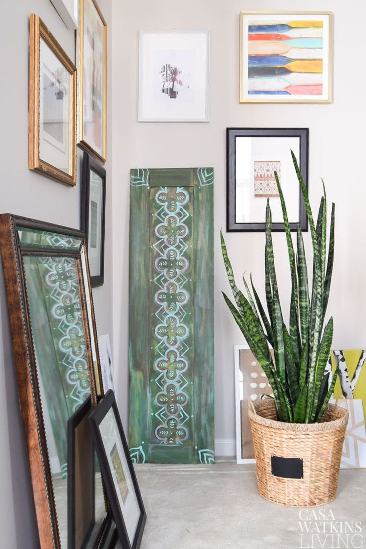 DIY Moroccan Wood Art using a cabinet door and 9 more globally inspired diy projects for home