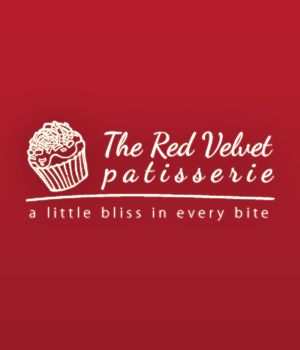 Red Velvet Patisserie Logo design.
