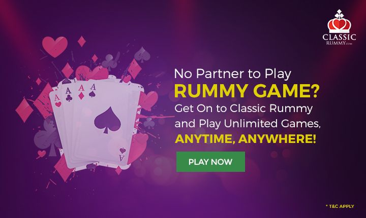 No Partner to Play Rummy Game? Get On to Classic Rummy & Play Unlimited Games, AnyTime, AnyWhere!  #rummy #online #mobile #ios #android